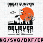 WTMETSY13012021 02 45 Vectorency Great pumpkin believer since 1966 svg, dxf,eps,png, Digital Download Halloween Svg, Halloween, Svg File for Cricut & Silhouette, Png Digital Download, witches svg, pumskin svg