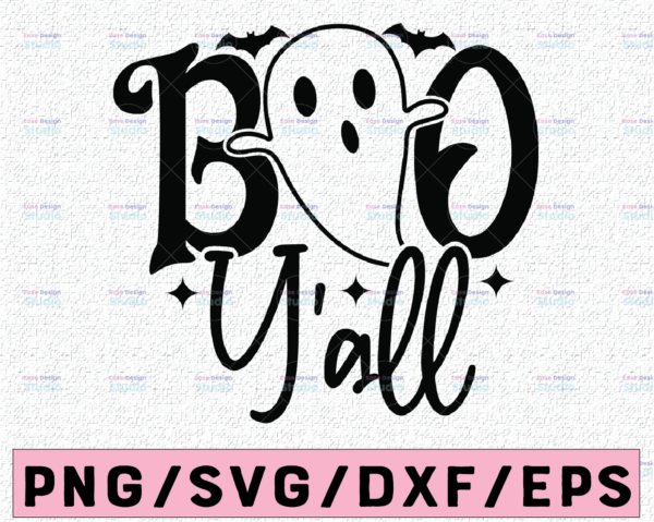 WTMETSY13012021 02 97 Vectorency Boos Y'all Svg, Girl Halloween Svg, Cute Ghost Svg Dxf Eps Png, Spooky Svg, Kids Cut Files, Girls Shirt Design, Silhouette, Cricut