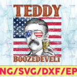 WTMETSY13012021 05 14 Vectorency Teddy Boozedevelt PNG, Presidents drinking, American flag bandana, Retro Vintage Summer 4th of July, USA Independent day PNG ,Digital Print