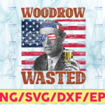 WTMETSY13012021 05 17 Vectorency Woodrow Wasted PNG, Presidents drinking, American flag bandana, Retro Vintage Summer 4th of July, USA Independent day PNG,Digital Print