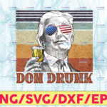 WTMETSY13012021 05 7 Vectorency Don Drunk PNG, Presidents drinking, American flag bandana, Retro Vintage Summer 4th of July, USA Independent day PNG,Digital Print