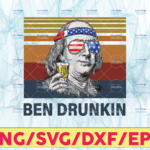 WTMETSY13012021 05 9 Vectorency Ben Drunkin PNG, Presidents drinking, American flag bandana Retro Vintage Summer 4th of July USA Independent day PNG,Digital Print Design