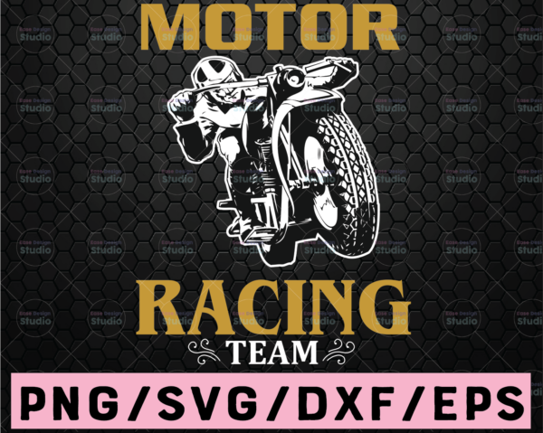 WTMETSY16122020 02 53 Vectorency Motor Racing Team SVG, Dirt Bike svg motor cross svg eps dxf png Files for Cutting Machines Cameo Cricut