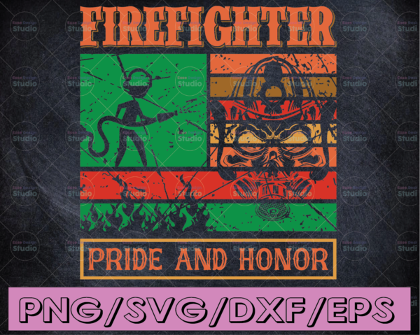 WTMETSY16122020 04 136 Vectorency Firefighter Pride and Honor firefighter flag svg, fireman svg, fire department svg, thin red line svg, red line svg, fire fighter svg