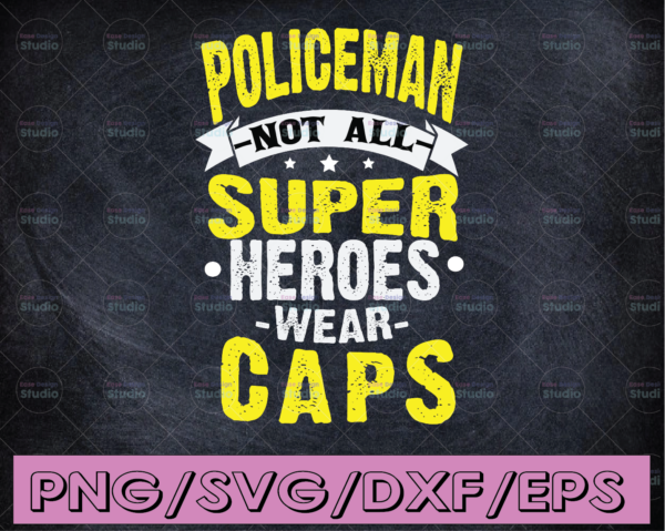 WTMETSY16122020 04 271 Vectorency Policeman not all super heroes wear caps svg, Police Thin Blue Line SVG |The Blue Lives Matter| Police Life Svg| Police Quotes svg png dxf