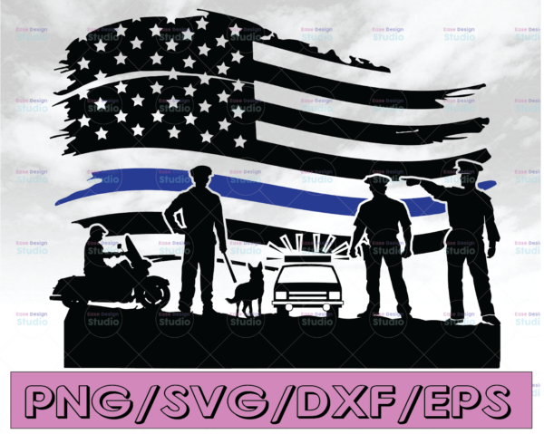 WTMETSY16122020 04 289 Vectorency Police flag svg, Police Thin Blue Line SVG |The Blue Lives Matter| Police Life Svg| Police Quotes svg png dxf