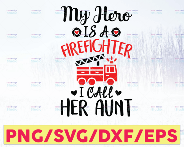 WTMETSY16122020 05 138 Vectorency My Hero Is A Firefighter & I Call Him Dad/Her Mom, Mother's Day Onesie, Father's Day Onesie, New Dad Gift, Gifts for Dad, Firefighter Gift