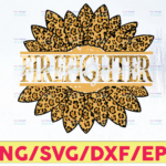WTMETSY16122020 05 139 Vectorency Firefighter Cheetah Leopard Sunflower Design PNG DIGITAL DOWNLOAD for sublimation