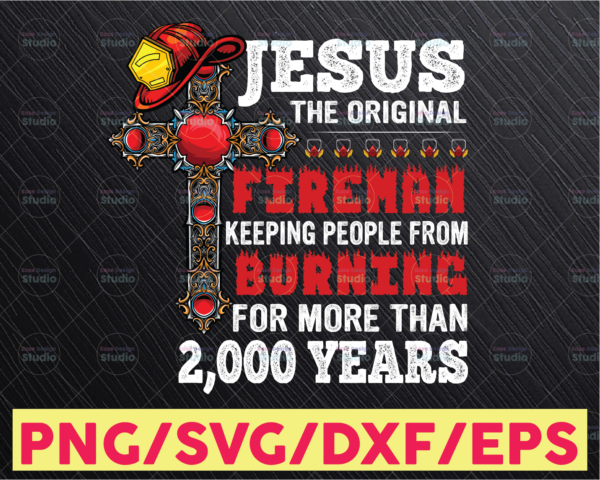 WTMETSY16122020 05 164 Vectorency Jesus The original firefighter Png file fireman Png , firefighter Png , Christian Png , Jesus Png