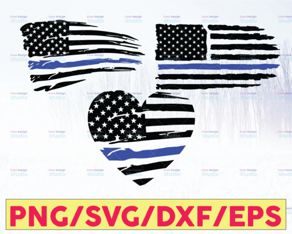 WTMETSY16122020 05 227 Vectorency Police Flag Bundle, Police Thin Blue Line SVG  The Blue Lives Matter  Police Life Svg  Police Quotes svg png dxf