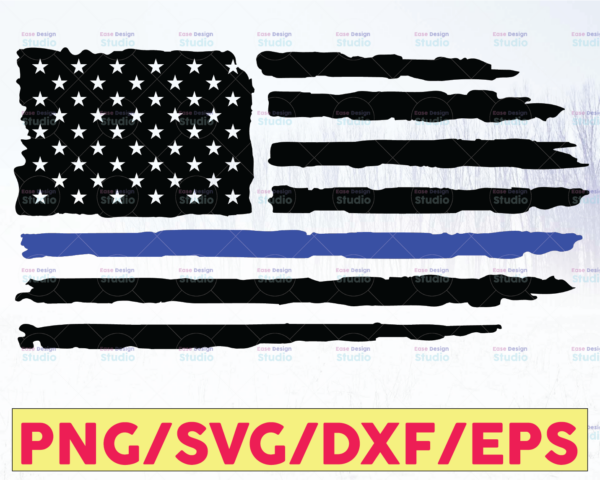 WTMETSY16122020 05 230 Vectorency Distressed USA Flag svg,png,jpg,dxf,USA Flag Cut Files,American flag svg,cut files,silhouette and cricut cut files Police Thin Blue Line