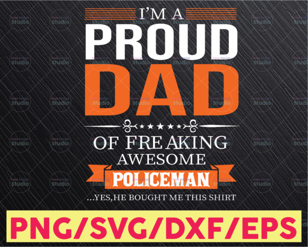 WTMETSY16122020 05 302 Vectorency I'm proud dad of freaking awesome policeman svg, Police Thin Blue Line SVG |The Blue Lives Matter| Police Life Svg| Police Quotes