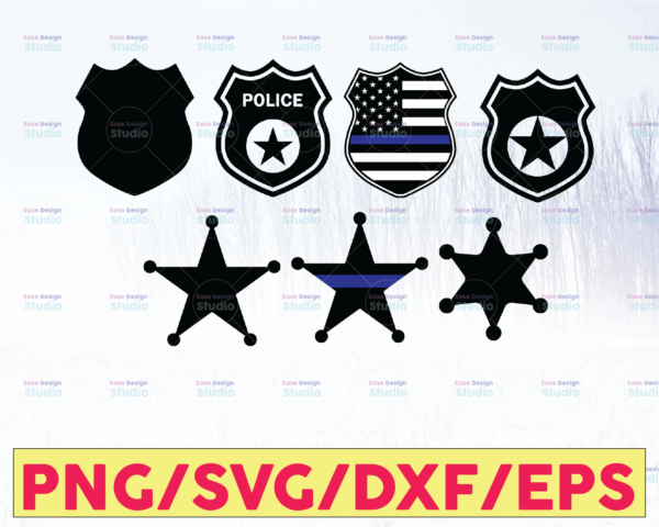 WTMETSY16122020 05 325 Vectorency Police Badge Bundle - American Flag, Police Thin Blue Line SVG  The Blue Lives Matter  Police Life Svg  Police Quotes svg png dxf