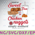 WTMETSY16122020 07 32 Vectorency Sweet Tea and Chicken Nuggets Png, Chicken Nugget Png, Tea Png , Digital Download