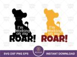 Working on my Roar SVG, Lion King Quote