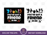 You've got a friend in Me, Toy Story Quote SVG