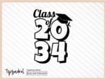 class of 2034 SVG