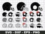 football helmet svg bundle
