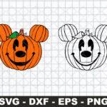 mickey pumpkin svg