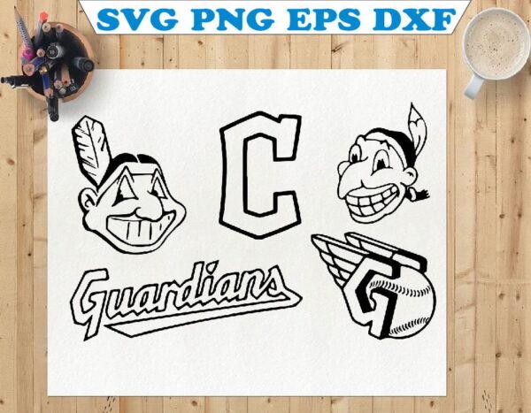 wtm 01 111 Vectorency Cleveland Guardians, Indians SVG Pack
