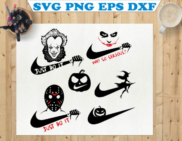 wtm 01 114 Vectorency Just do it SVG for cricut, Horror Movie Villains SVG, Digital File SVG