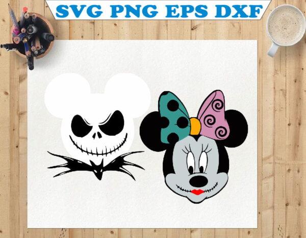 wtm 01 120 Vectorency Nightmare Before Christmas, Mickey Head SVG, Mickey SVG, Minnie Head SVG, Minnie SVG, Disney SVG, Disney Halloween, Jack Skellington SVG