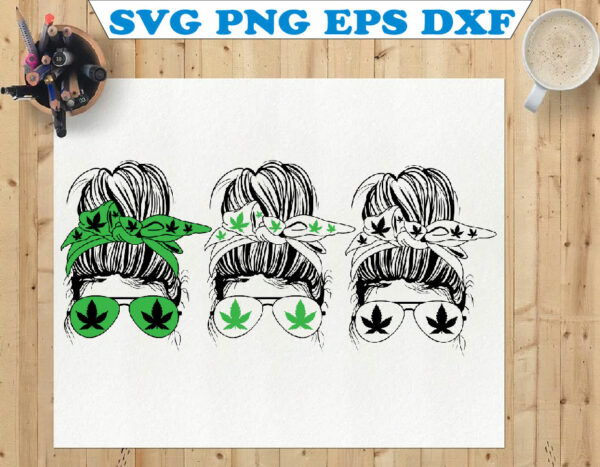 wtm 01 88 Vectorency Weed Momlife SVG, Marijuana SVG, Cannabis, Momlife SVG, Mom Skull SVG, Messy Bun Classy Afro Woman SVG, Printable, Cricut & Silhouette