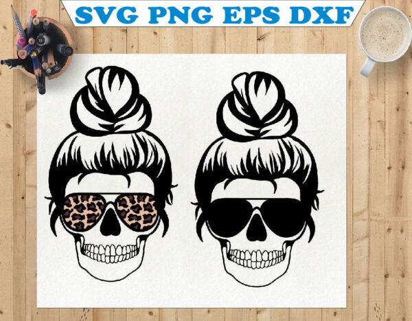 wtm 01 98 Vectorency Mom Life, Mom Life Skeleton, Skull, Momlife SVG, Mom Skull SVG, Messy Bun Classy Afro Woman SVG, Printable, Cricut & Silhouette