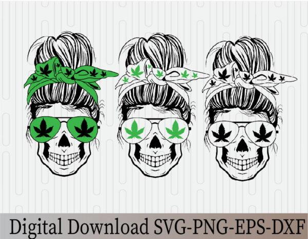 wtm 03 19 Vectorency Marijuana SVG, Weed Momlife SVG, Cannabis, Momlife SVG, Mom Skull SVG, Messy Bun Classy Afro Woman SVG, Printable, Cricut & Silhouette