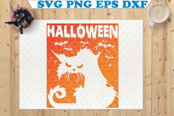 wtm 8 Vectorency Cat SVG, Halloween SVG, Cat SVG File, Halloween Cat SVG, Halloween Cricut, SVG File for Cricut, Silhouette Cut File, Clipart