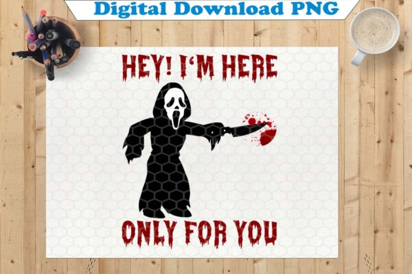 wtm copy 45 Vectorency Hey I'm Here Only For You SVG, Halloween, Funny Halloween SVG, Ghost SVG, Boo SVG, Halloween SVG, Cricut File, Clipart