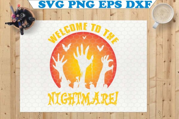 wtm copy 48 Vectorency Welcome To The Nightmare SVG, Halloween Nightmare SVG, File For Cricut & Silhouette