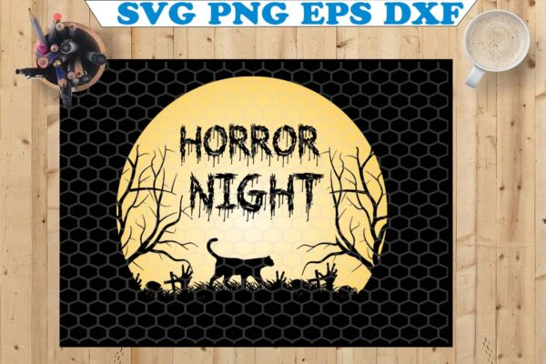 wtm copy 55 Vectorency Horror Night SVG, Halloween SVG, SVG Files For Cricut, Silhouette Cut Files, Digital Download