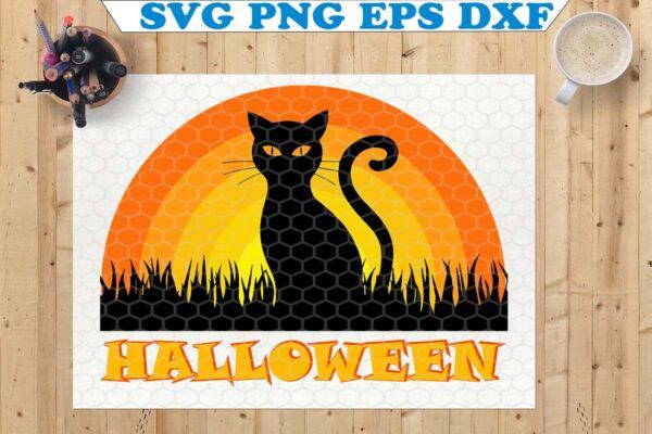 wtm copy 57 Vectorency Black Cat SVG, Halloween SVG, Cat SVG, Halloween Cat SVG, Halloween Cricut SVG File for Cricut, Silhouette Cut File, Clipart