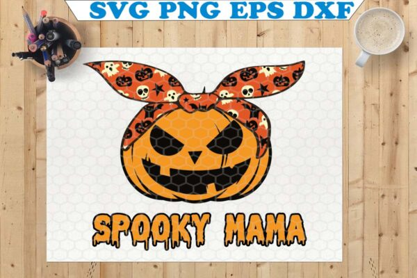 wtm copy 61 Vectorency Spooky Mama Pumpkin SVG, Spooky Mama SVG, Spooky Mom SVG, Pumpkin SVG, Cricut File, Silhouette, Halloween SVG
