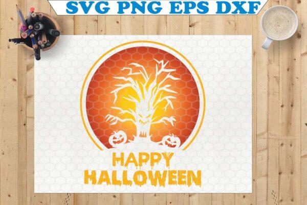 wtm copy 62 Vectorency Happy Halloween SVG, Halloween Sign SVG, Halloween SVG, Cricut, Silhouette, Halloween SVG, Pumpkin SVG Cricut