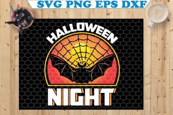 wtm copy 74 Vectorency Halloween Night SVG, Bat Halloween SVG, Halloween SVG, Bat SVG, SVG Files For Cricut, Silhouette, Digital Download