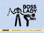 Boss Lady T Shirt Design Vector SVG Instant Download