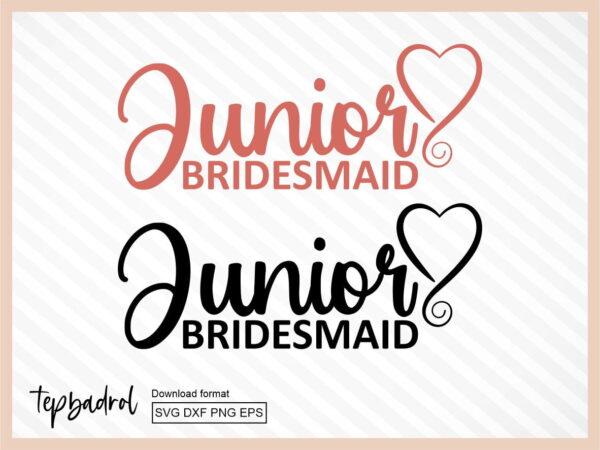 Junior Bridesmaid SVG