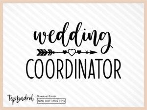 Wedding Coordinator SVG File